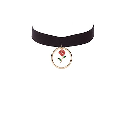 O-Ring Rose Choker Necklace