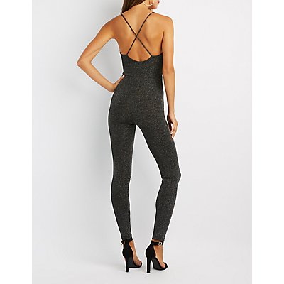 Lattice-Front Open-Back Jumpsuit