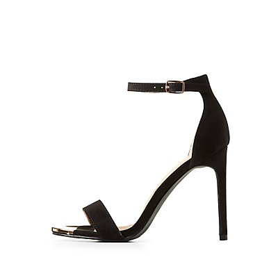 Metal-Trim Two-Piece Sandals