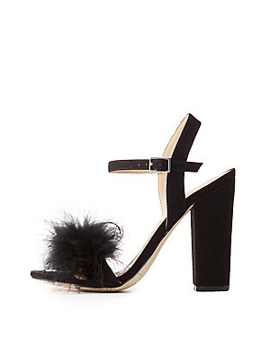 Feather Two-Piece Sandals