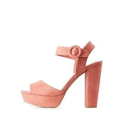 Qupid Two-Piece Platform Sandals