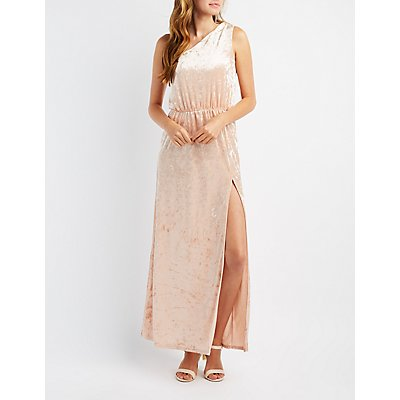 One-Shoulder Velvet Gown