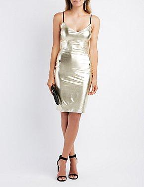 Liquid Metallic Bodycon Dress
