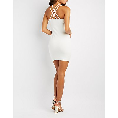 Embellished Strappy Bodycon Dress