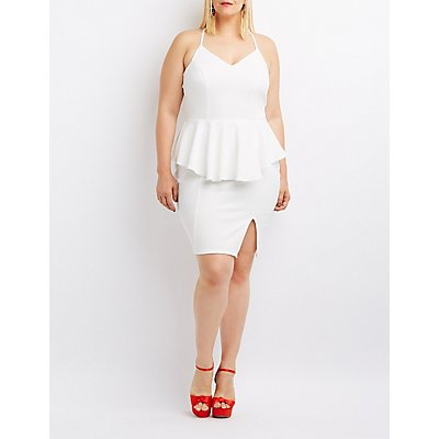 Plus Size Peplum Bodycon Dress