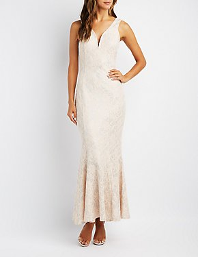 Brocade Mermaid Maxi Dress