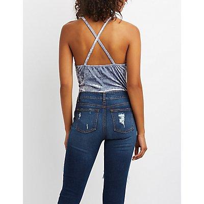 Velvet Strappy Bodysuit