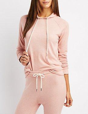 Hacci Drawstring Pullover Sweatshirt