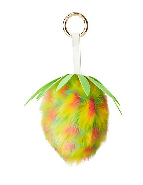 Rainbow Strawberry Key Chain