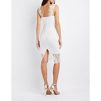 Lace Sweetheart Bodycon Dress