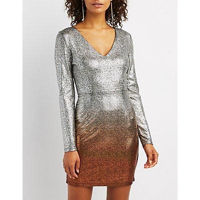 Ombre Metallic Dress