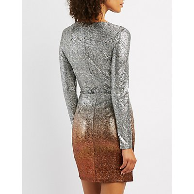 Ombre Metallic Dress