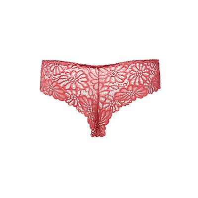 Scalloped Caged Lace Cheeky Panties