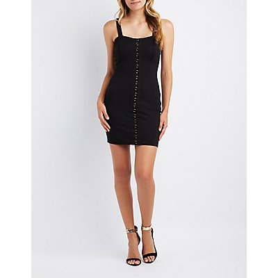 Bustier O-Ring Bodycon Dress