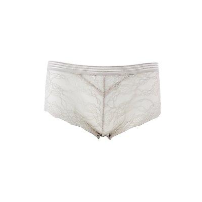 Scalloped Lace Mesh-Trim Hipster Panties