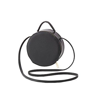 Round Structured Crossbody Bag