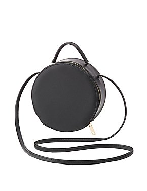 Round Structured Crossbody Bag