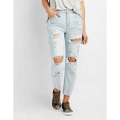 Refuge Straight Leg Destroyed Jeans