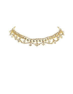 Plus Size Embellished Chandelier Choker Necklace