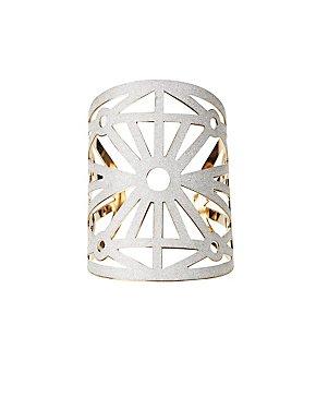 Shimmering Laser Cut Cuff Bracelet