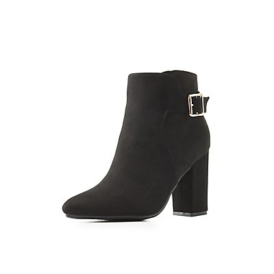 Bamboo Pointed Toe Buckled Ankle Booties