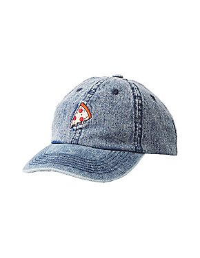 Denim Pizza Patch Baseball Hat