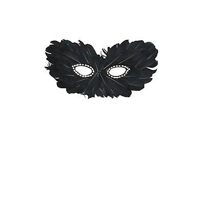 Embellished Feather Mask