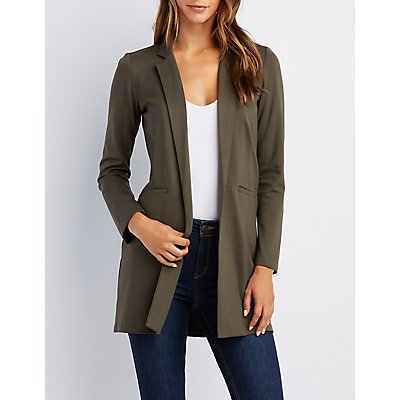 Notched Lapel Longline Blazer