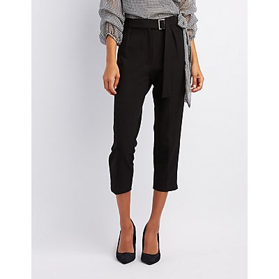 Belted Skinny Trousers