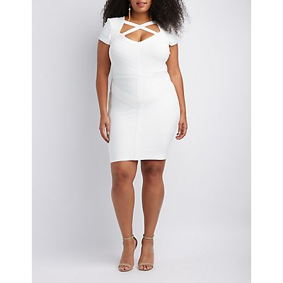 Plus Size Bandage Bodycon Dress