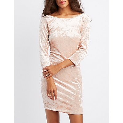 Velvet Backless Bodycon Dress