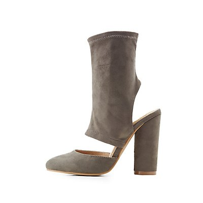 Cut-Out Slingback Sock Booties