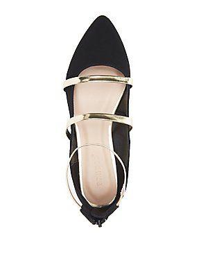 Bamboo Strappy Pointed Toe Flats