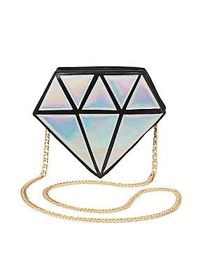 Holographic Diamond Crossbody Bag