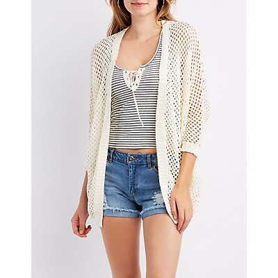 Open-Knit Cocoon Cardigan