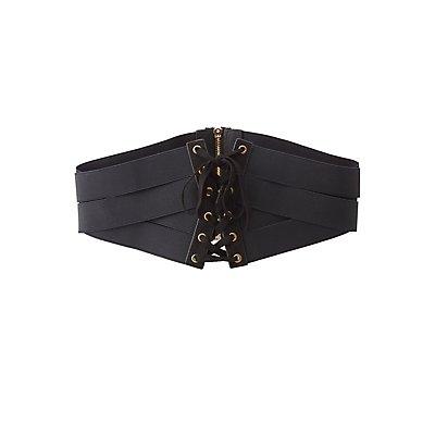 Banded Corset Waist Belt