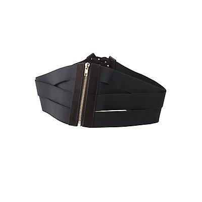 Plus Size Banded Corset Waist Belt