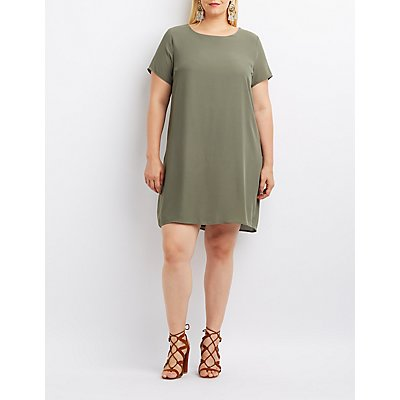 Plus Size Keyhole Shift Dress