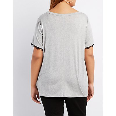 Plus Size Femme Forever Cut-Out Tee
