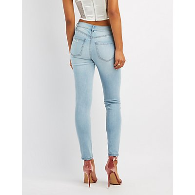 Refuge Pearl Applique Skinny Jeans
