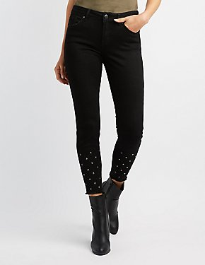 Refuge Studded Denim Skinny Jeans