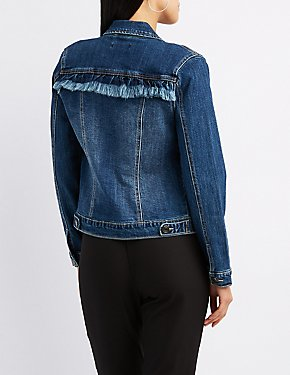 Fringe-Back Denim Jacket