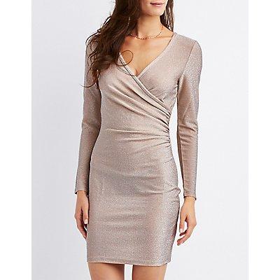 Surplice Bodycon Dress