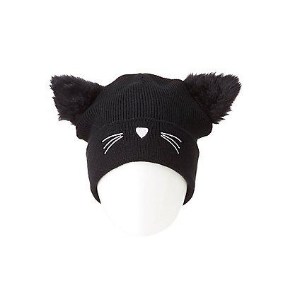 Faux Fur Cat Beanie