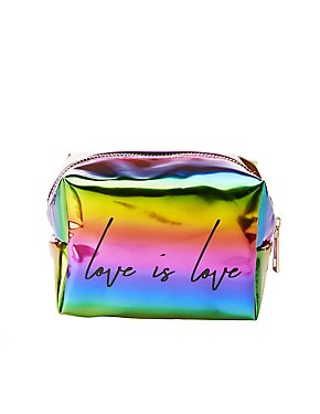 Love is Love Faux Leather Makeup Bag