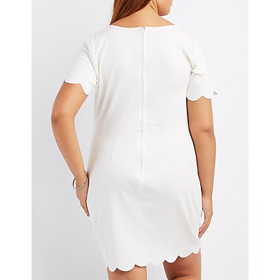 Plus Size Scalloped-Trim Bodycon Dress