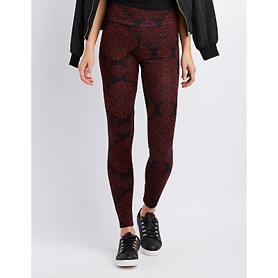 Paisley High-Waist Leggings