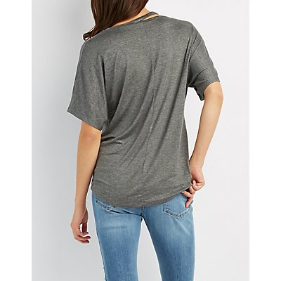 Cut-Out Dolman Tee