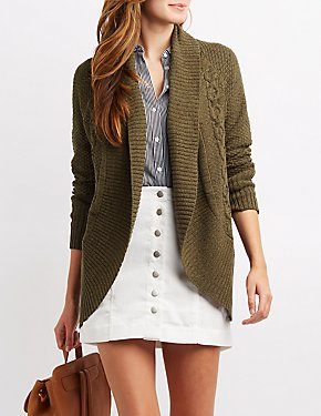 Cable Knit Cocoon Cardigan