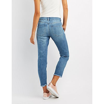 Refuge Embroidered Straight Leg Jeans